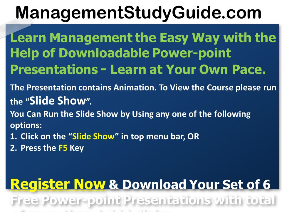 learn management the easy way with the help of downloadable power