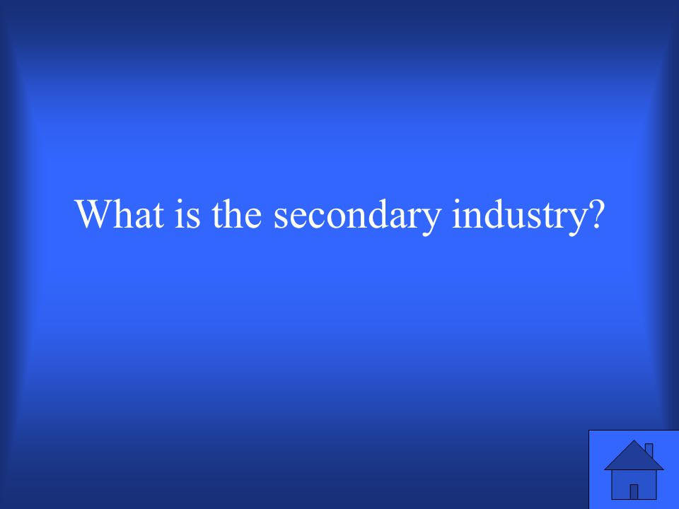 The industry type that includes manufacturing. 100 points