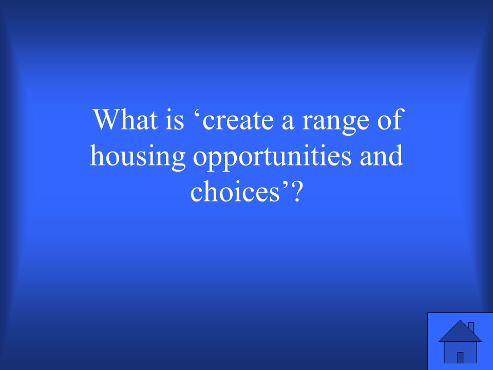 Smart growth principle where quality housing is provided for all income levels.