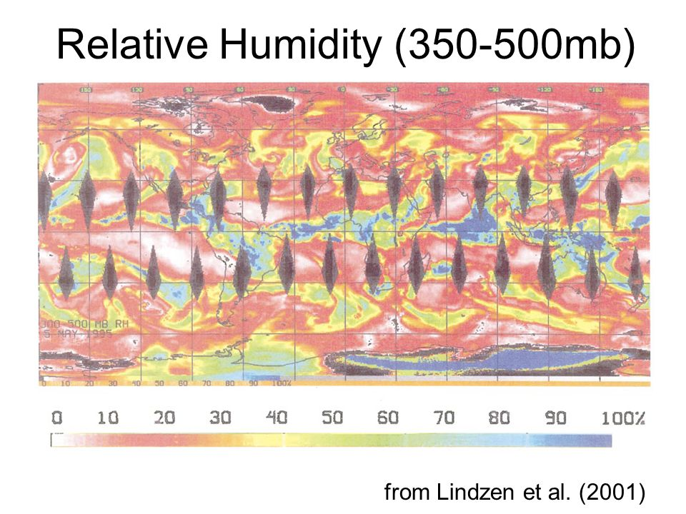Relative Humidity ( mb) from Lindzen et al. (2001)