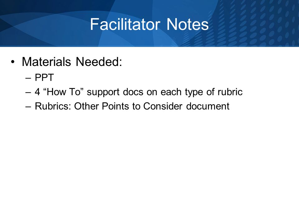 facilitator notes materials needed ppt 4 how to support docs on