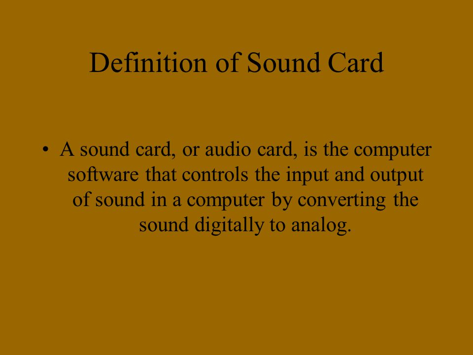 definition sound card