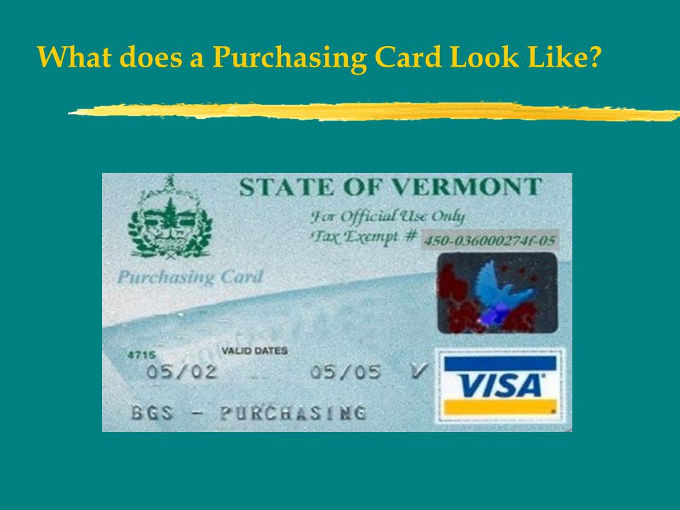 What does a Purchasing Card Look Like