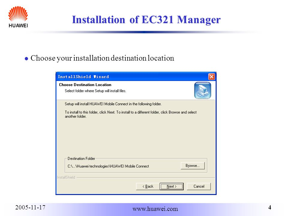 HUAWEI Installation and Configuration Attention! :Do not insert the