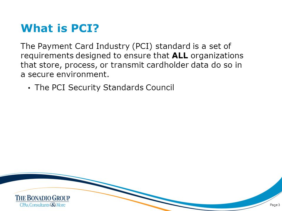 What is PCI.