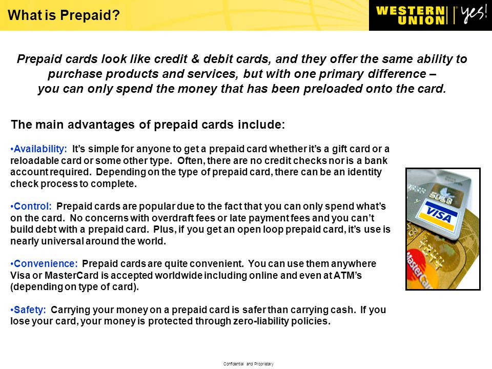 confidential and proprietary what is prepaid - Control Prepaid Card