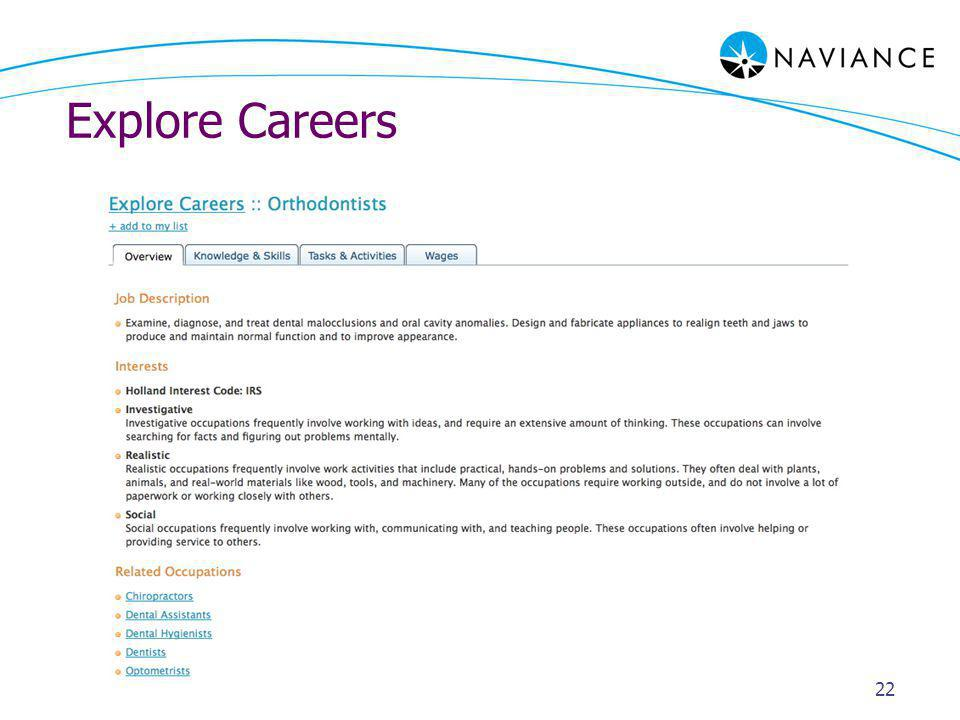 Explore Careers 22