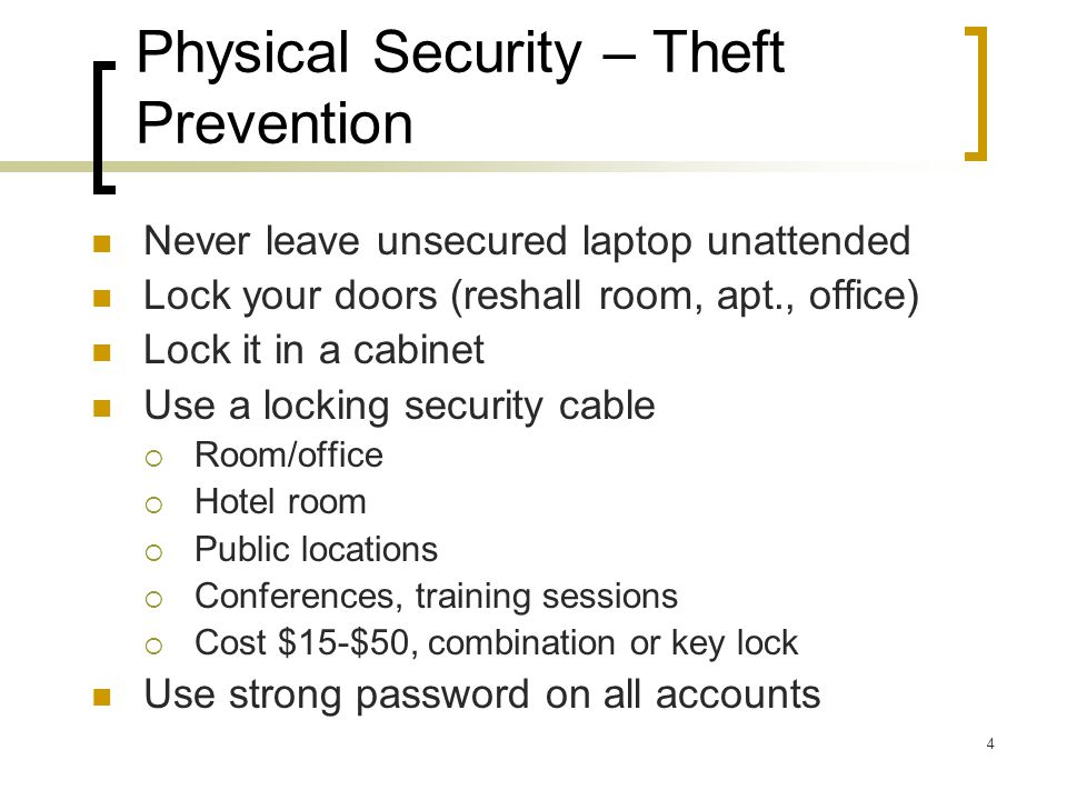 Laptop Security SIRT IT Security Roundtable Harvard Townsend IT