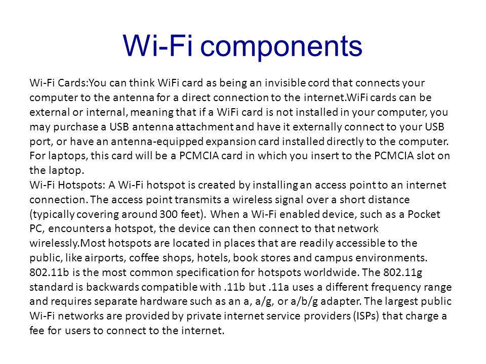Wi-Fi and Bluetooth Laboratorio di El&Tel Mauro Biagi  - ppt download