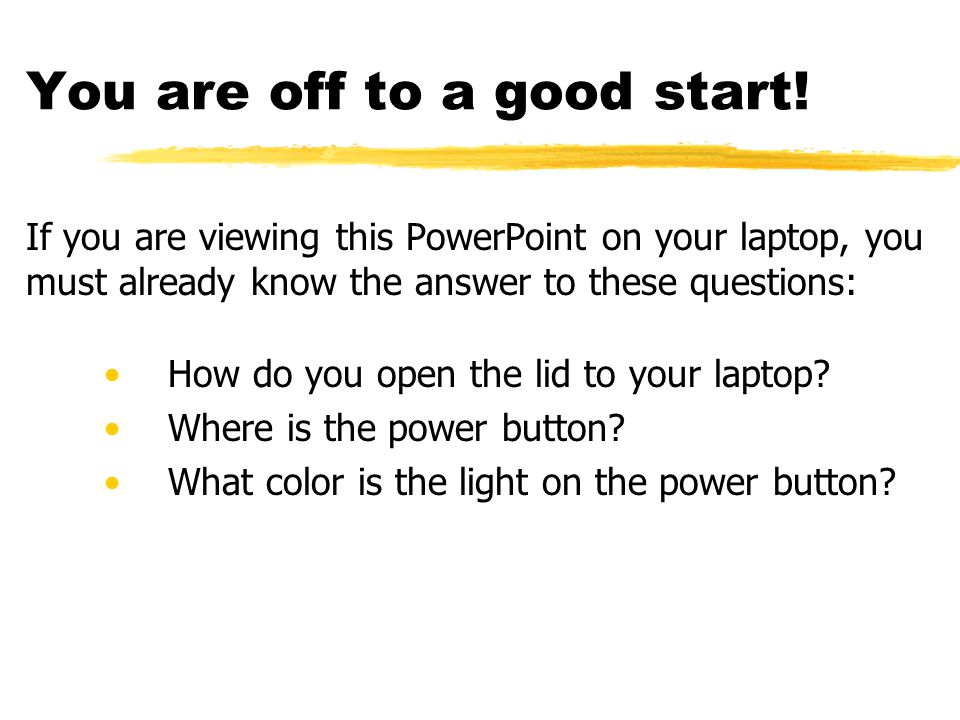 Understanding Your Laptop A scavenger hunt designed to help