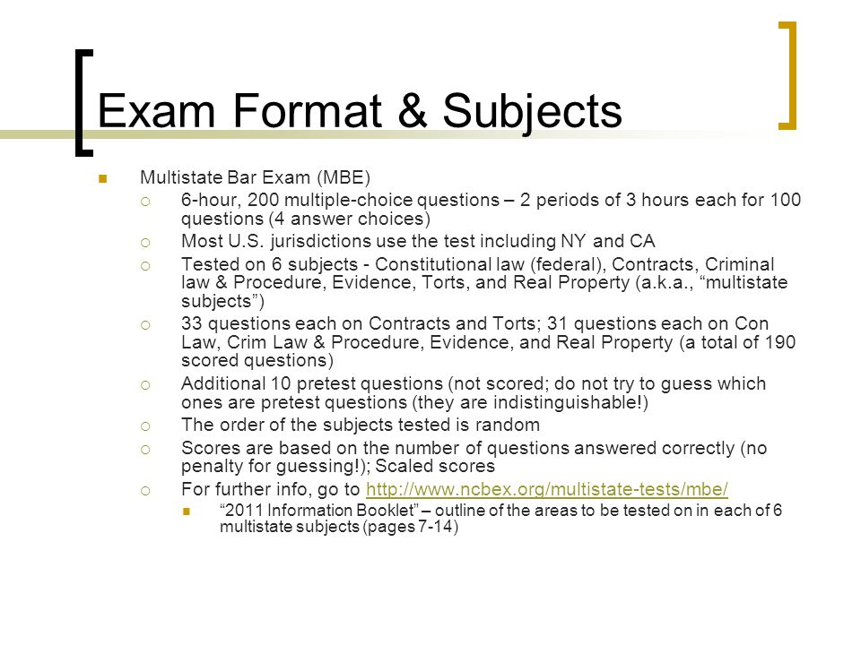 Bar Exam (NY & CA) Preparation Tips for LL Ms UC, Berkeley