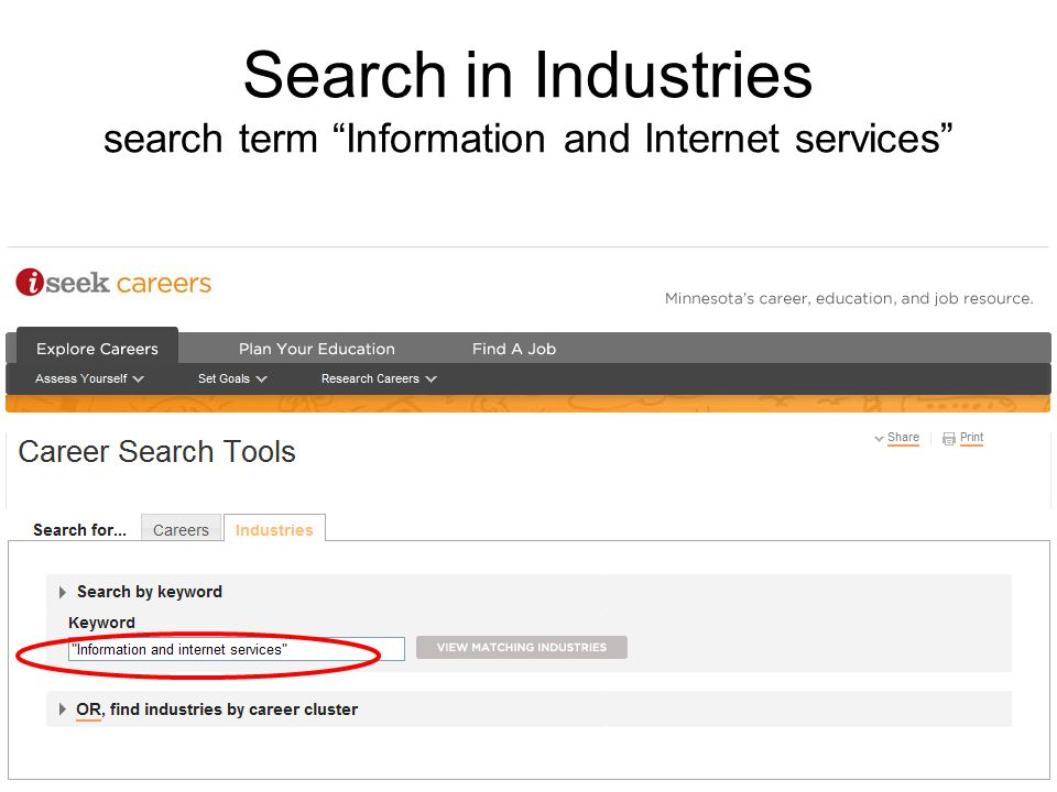 Search in Industries search term Information and Internet services