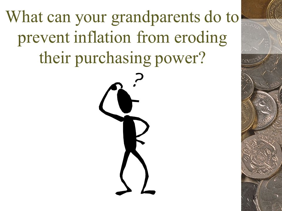 13 What can your grandparents do to prevent inflation from eroding their purchasing power