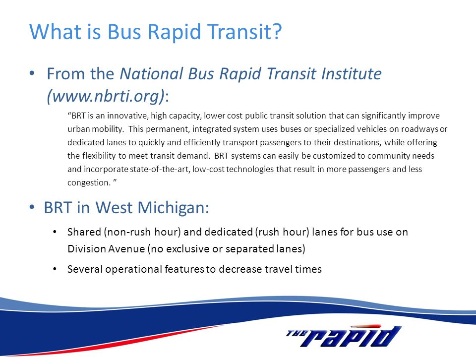 What is Bus Rapid Transit.