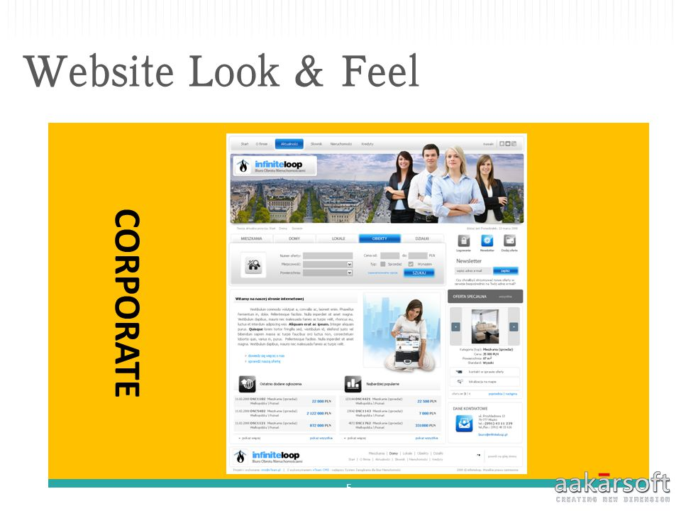 Website Look & Feel CORPORATE 5