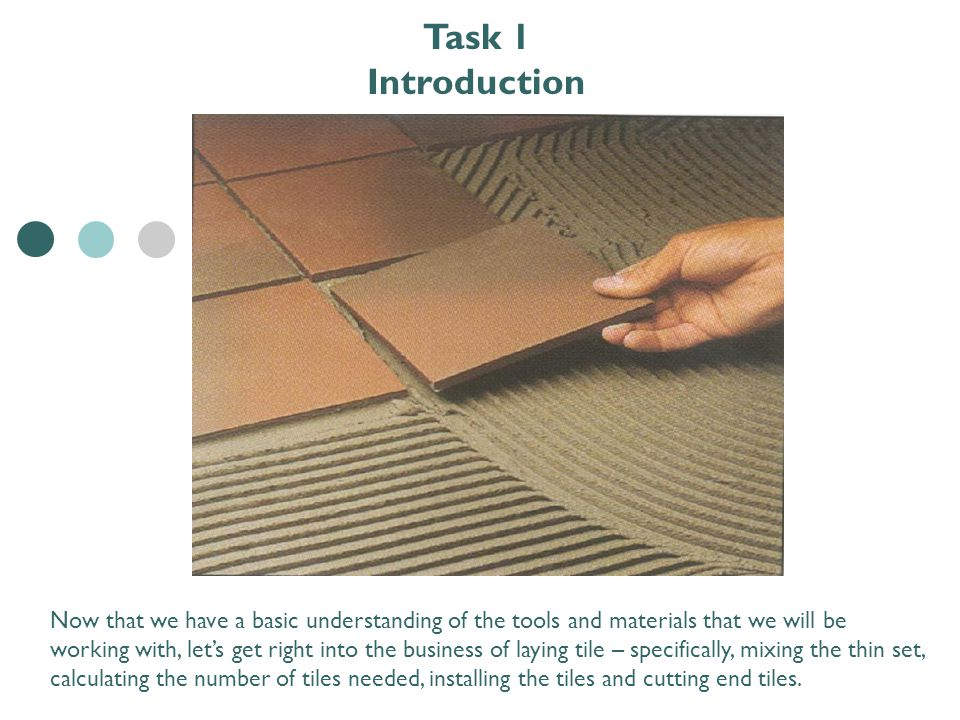 Ceramic Tile Installation Step 5 – Install Tile TNC EDUCATION ...
