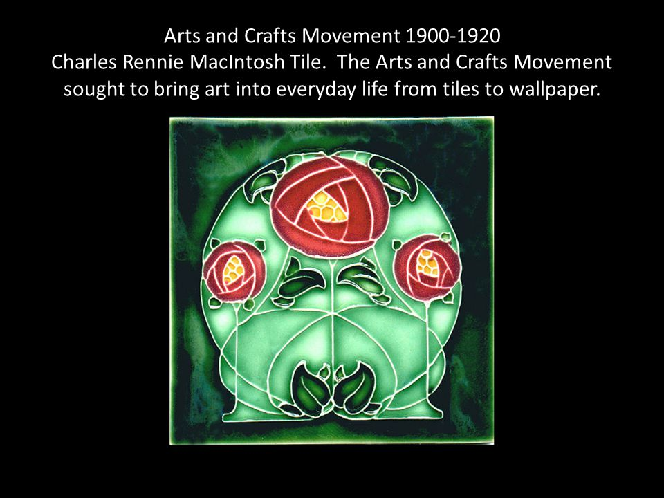 Arts and Crafts Movement 1900-1920 Charles Rennie MacIntosh Tile.