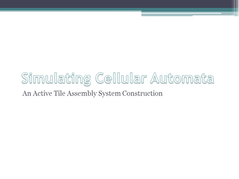 An Active Tile Assembly System Construction