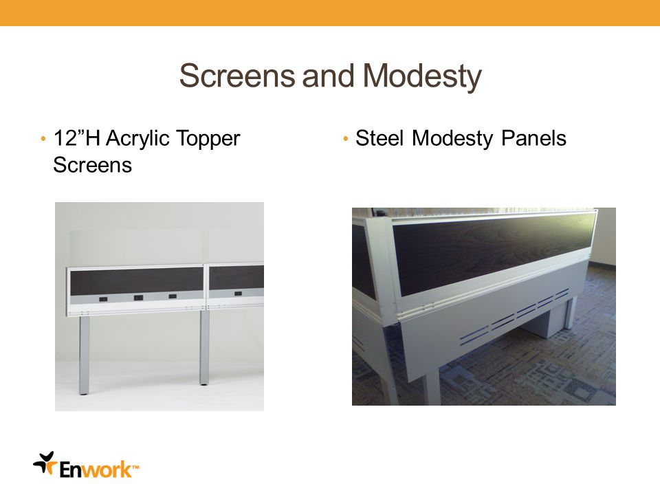 Screens and Modesty 12H Acrylic Topper Screens Steel Modesty Panels 8