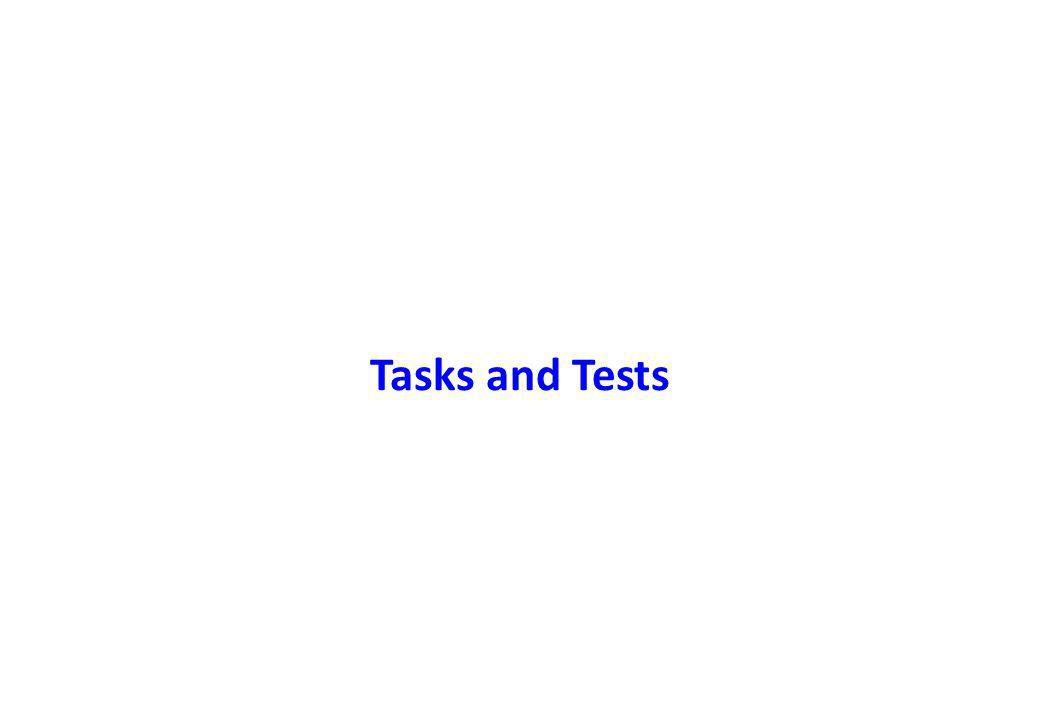 Tasks and Tests