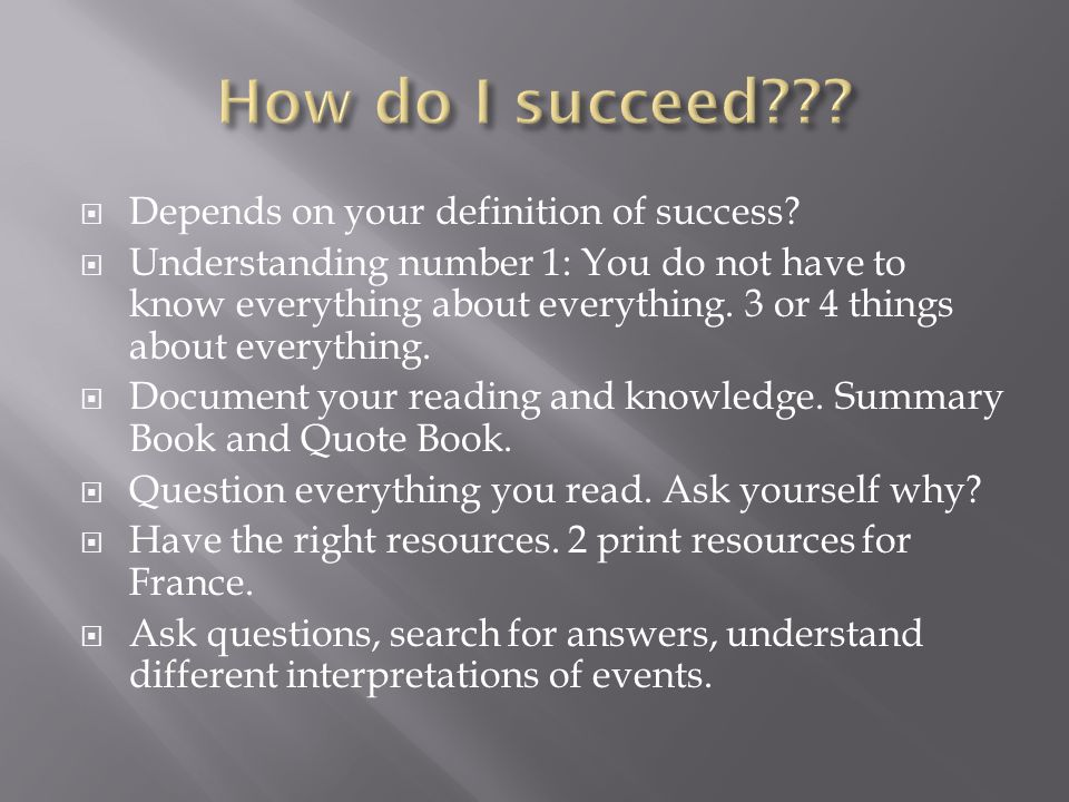 Depends on your definition of success.