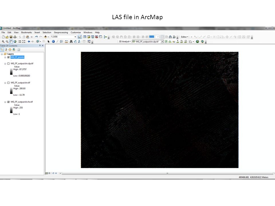 LAS file in ArcMap