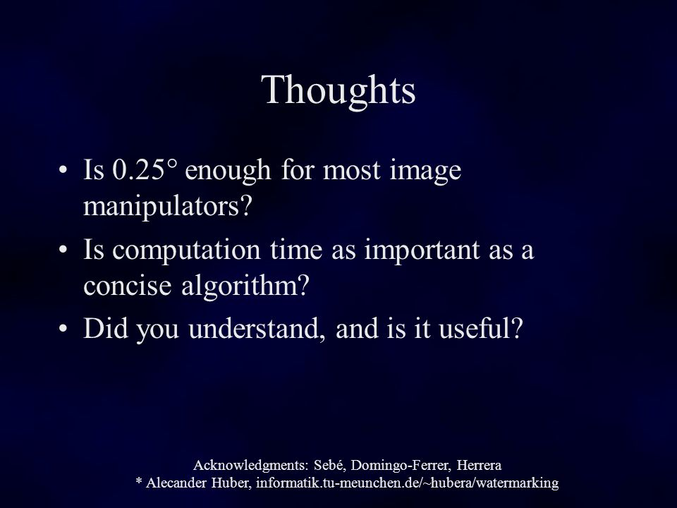 Thoughts Is 0.25° enough for most image manipulators.