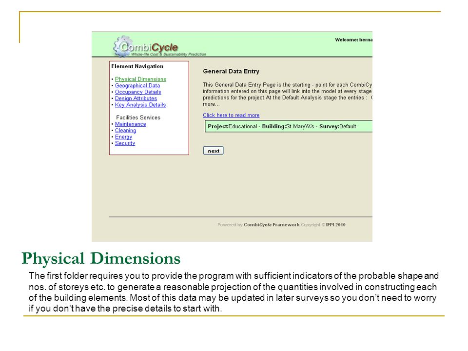 Physical Dimensions The first folder requires you to provide the program with sufficient indicators of the probable shape and nos.