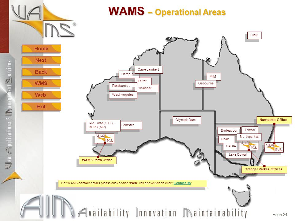 Page 23 WAMS – Supporting documents WAMS standard products listproducts
