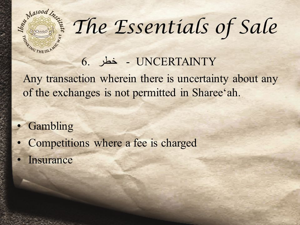 The Essentials of Sale 6.