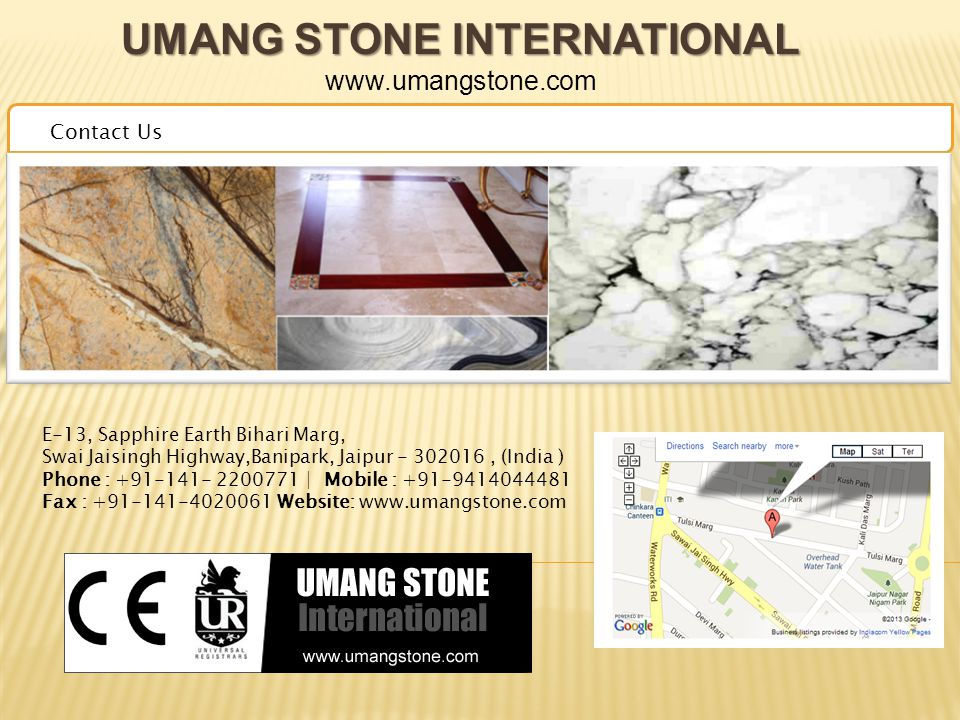 UMANG STONE INTERNATIONAL UMANG STONE INTERNATIONAL www.umangstone.com Ware House
