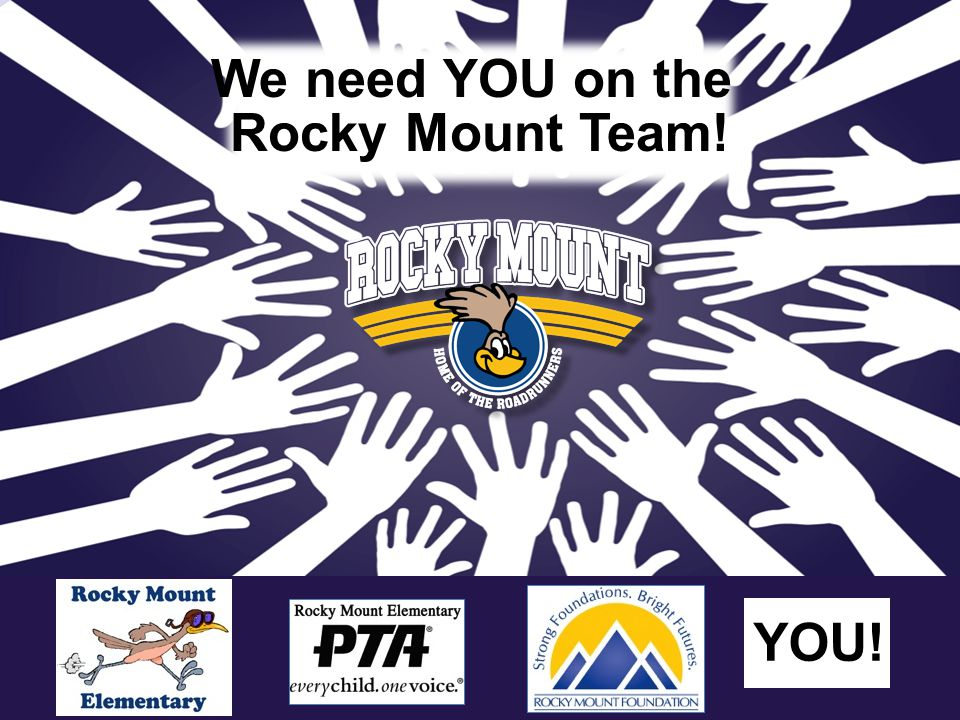 We need YOU on the Rocky Mount Team! YOU!