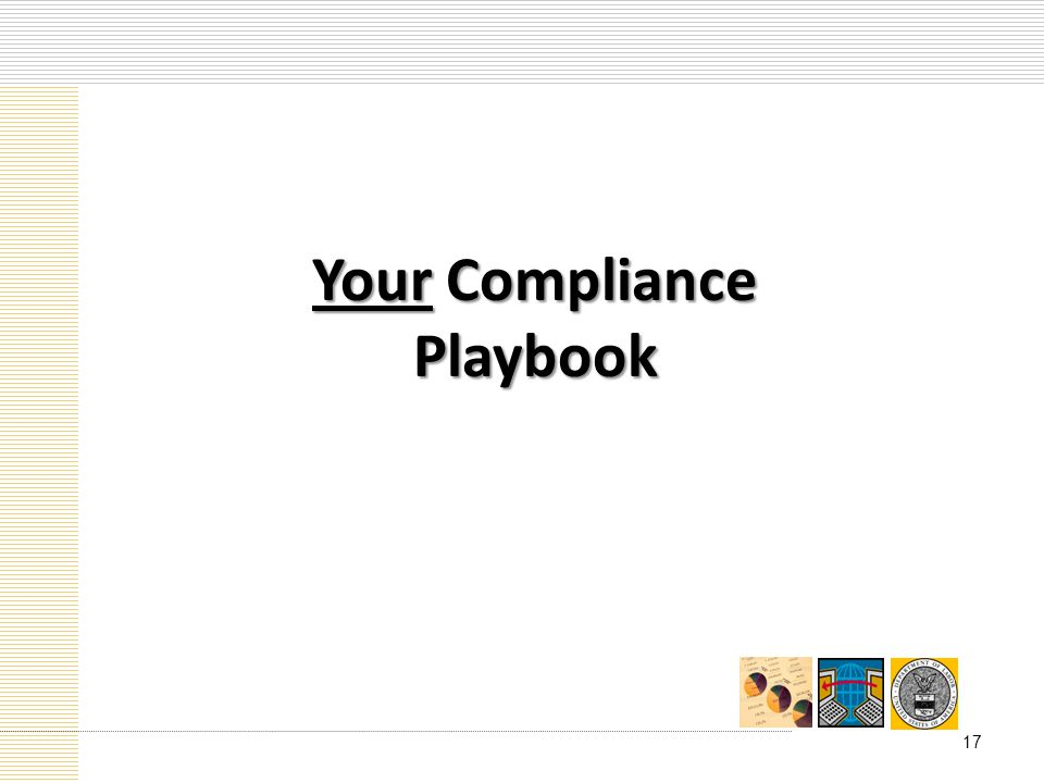 Your Compliance Playbook 17