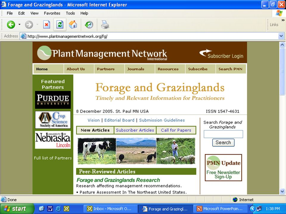 Plant Management Network Forage and Grazinglands