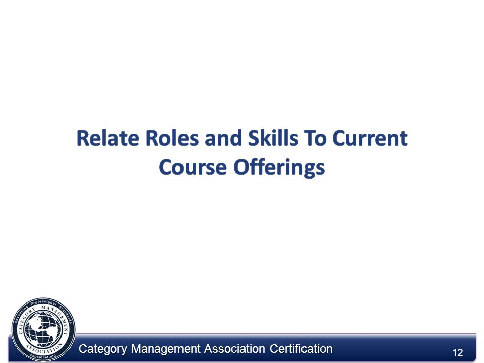 Category Management Association Certification 12