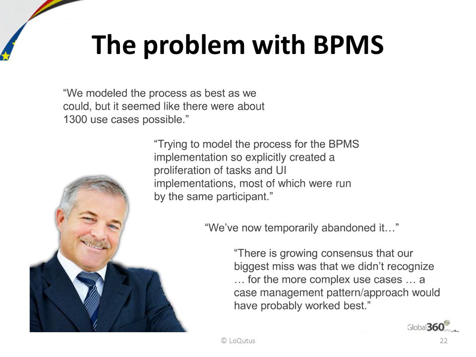 © LoQutus22 The problem with BPMS