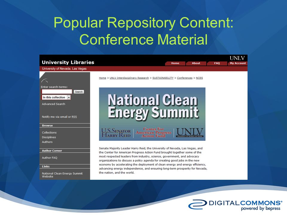Popular Repository Content: Conference Material