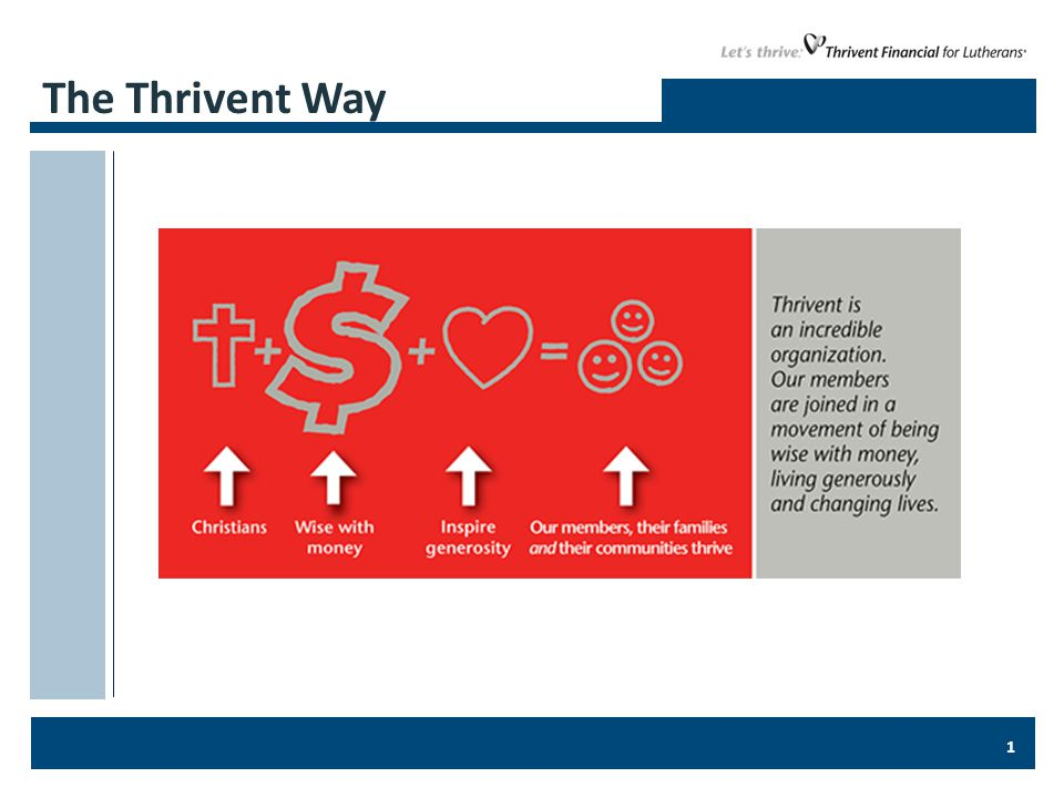 1 The Thrivent Way