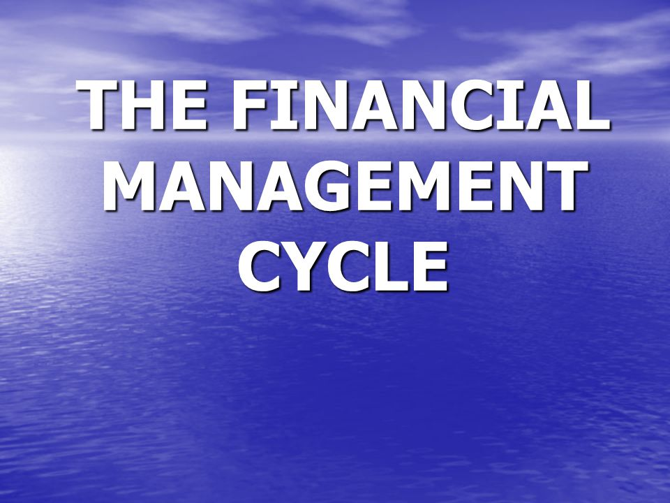 THE FINANCIAL MANAGEMENT CYCLE