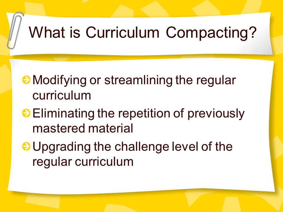 What is Curriculum Compacting.