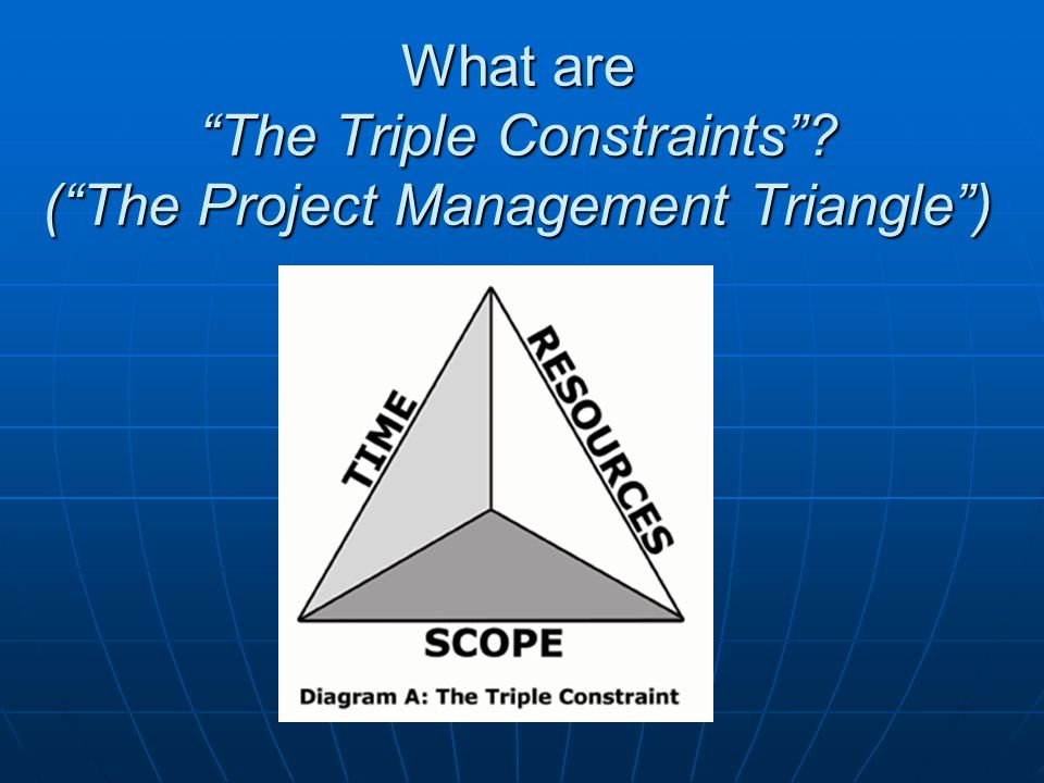 What are The Triple Constraints (The Project Management Triangle)