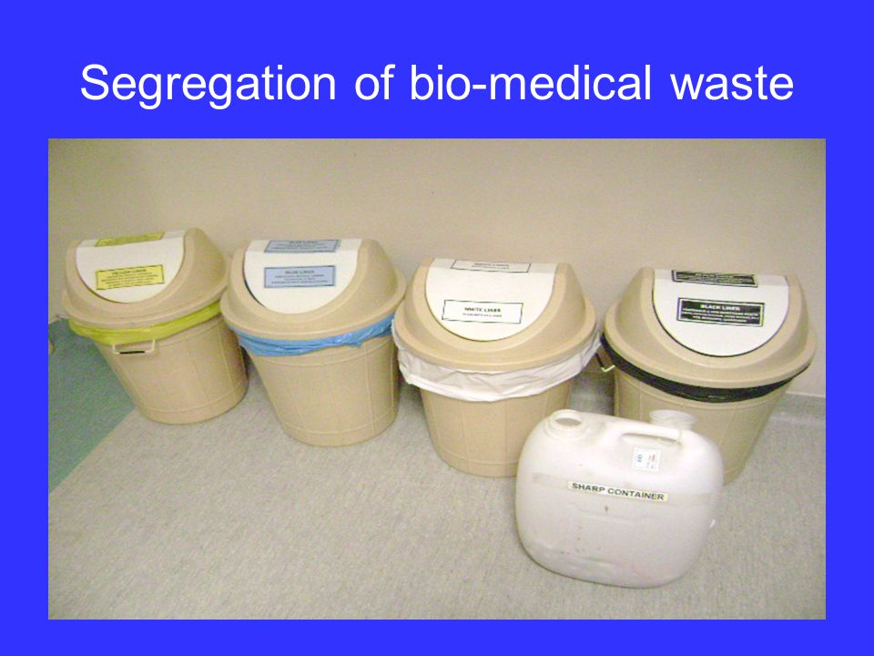 Segregation of bio-medical waste