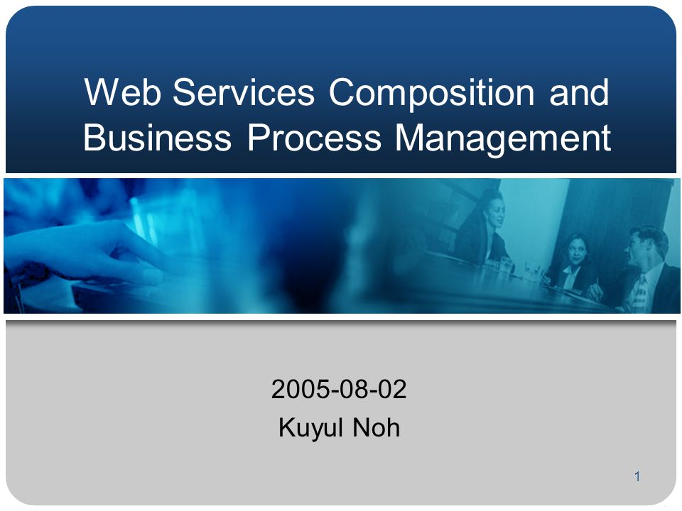 1 Web Services Composition and Business Process Management 2005-08-02 Kuyul Noh