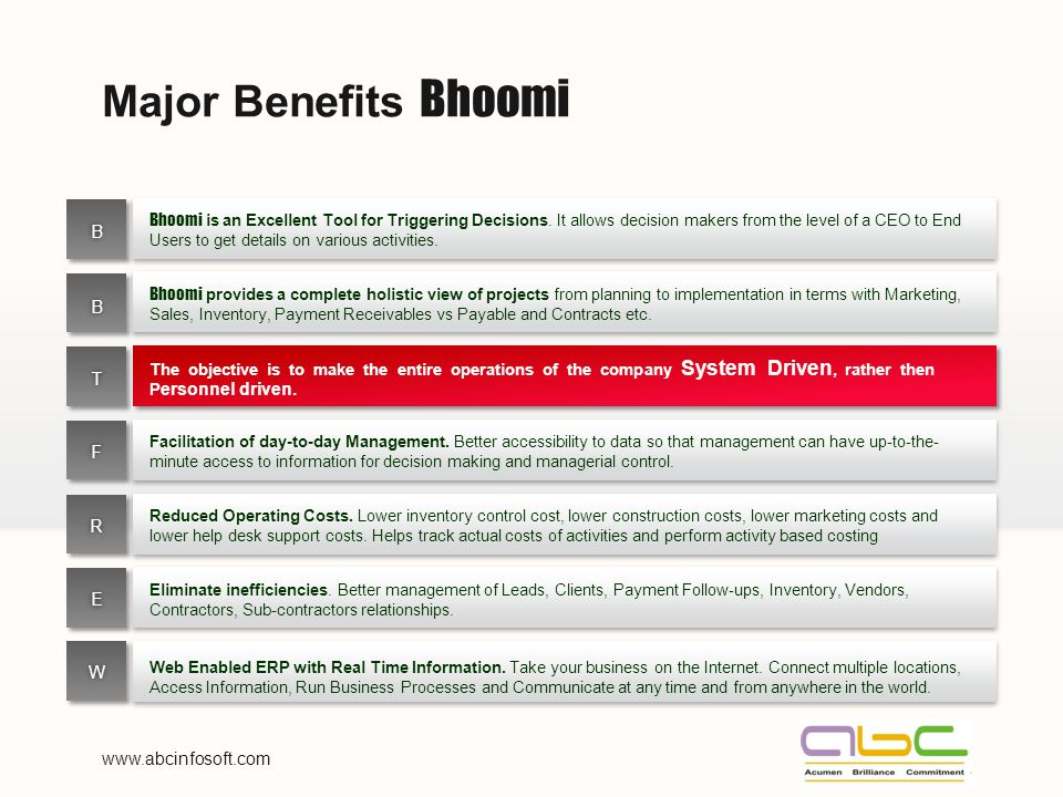 Major Benefits Bhoomi Bhoomi is an Excellent Tool for Triggering Decisions.