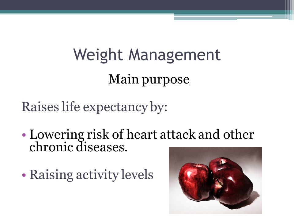 Weight Management The term is preferred to dieting because: More than regulation of food for overweight people Takes into consideration people with eating disorders and diabetes Involves exercising!