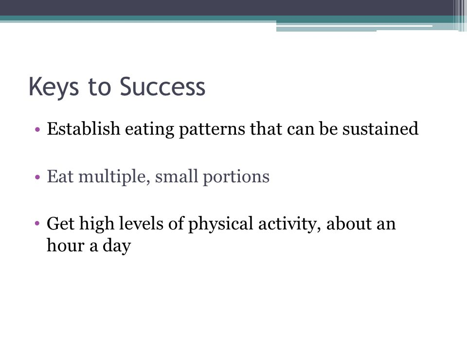 Making a Plan Eat healthy foods that you enjoy Develop an exercise plan Monitor progress for both diet and exercise
