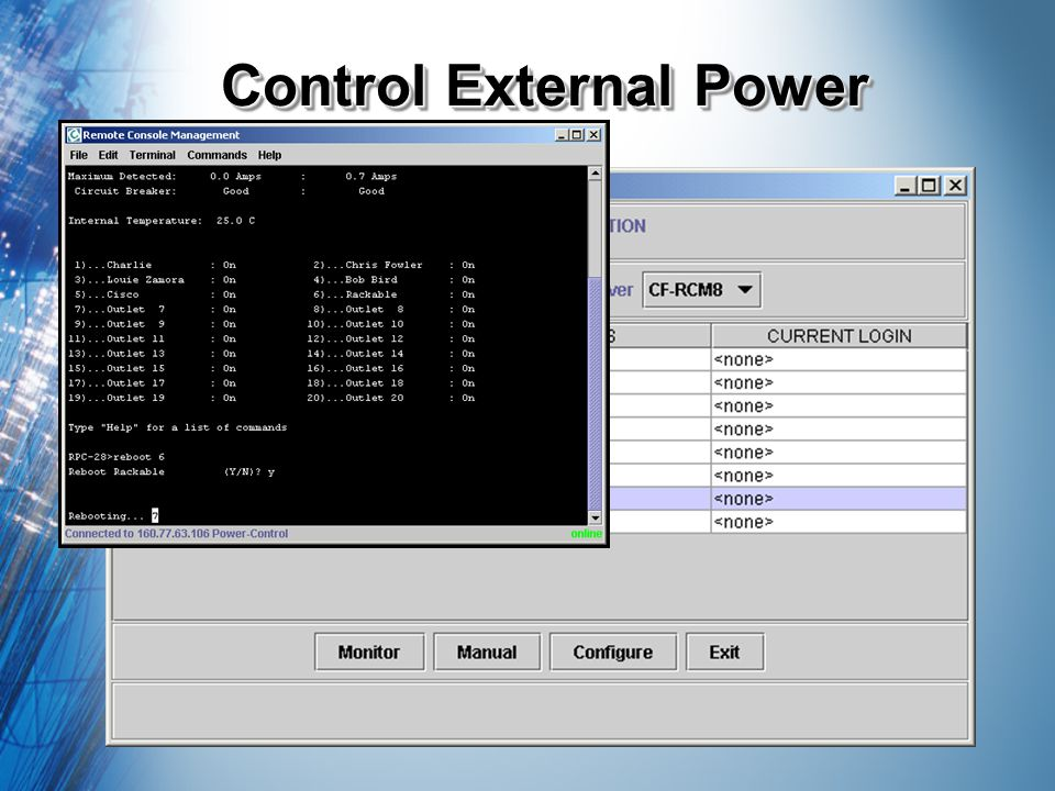 Control External Power