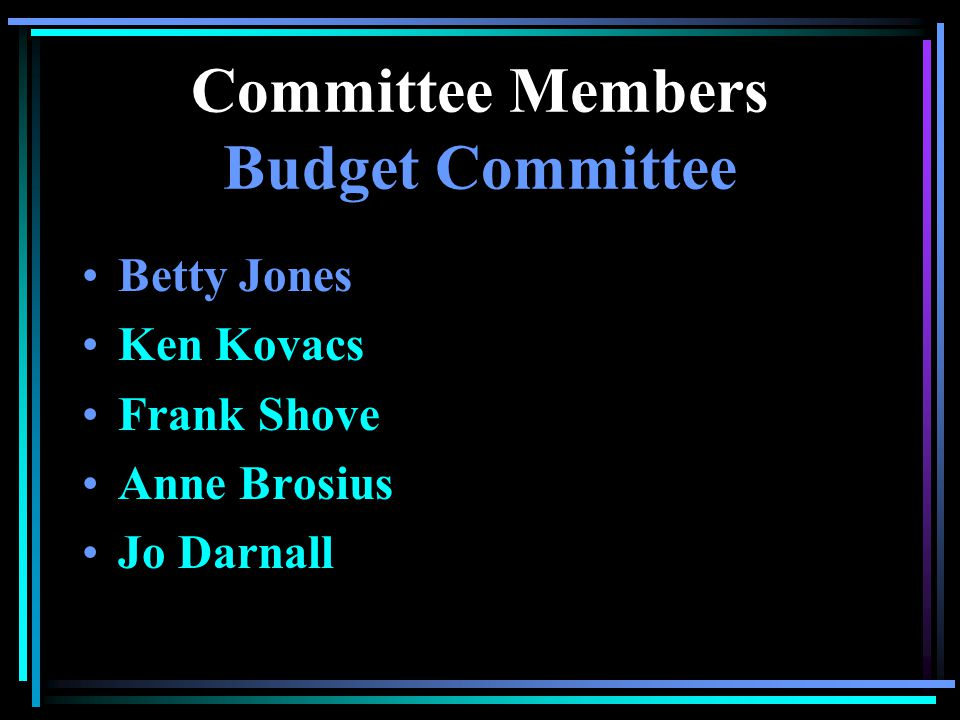 Annual Meeting Committee Members Canyon View Village Committees So just who are these people.