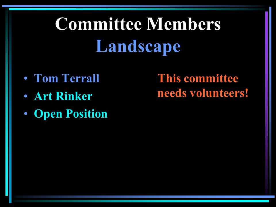 Committee Members Architectural John Shepherd Frank Shove Frelon Mardick